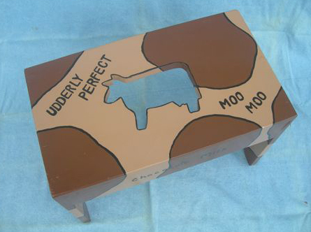 Udderly Perfect Cow Themed Stool Amy Alley