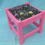 Girl Rock Galaxy Stool