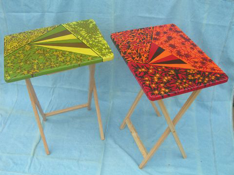 Abstract Garden Collapsable Coffee Tables