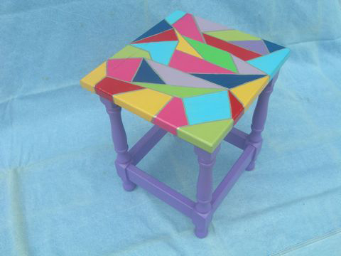 Stained Glass Style Child's Table