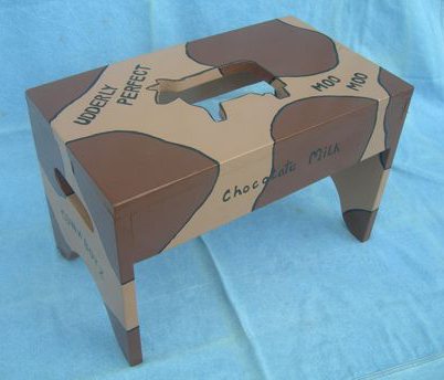 Udderly Perfect Cow-Themed Stool