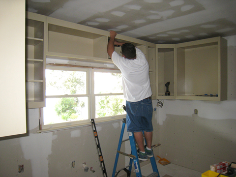 Install the wall cabinets